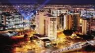 T/L, HA, WS, Cityscape at night, Brasilia, Brazil
