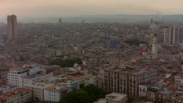 T/L, WS, Cityscape at sunrise,  Old Havana, Cuba
