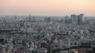 WS HA Cityscape at sunrise / Tokyo, Japan
