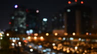 Cityscape bokeh style video background