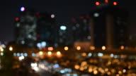Cityscape bokeh style video background