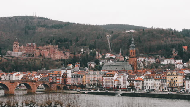 Cityscape Heidelberg City Old Town Neuenheim, Germany