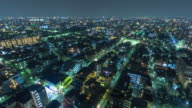 T/L, Cityscape in Tokyo at night.