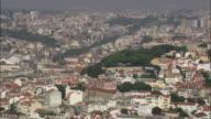 AERIAL WS ZO Cityscape / Lisbon, Portugal