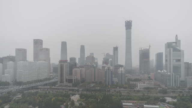 T/L HA Cityscape of Beijing in air pollution / Beijing, China