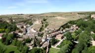 VDO : Cityscape of Segovia from Alcazar , Segovia , Spain