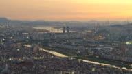 WS T/L Cityscape of Seoul at sun setting / Seoul, South Korea
