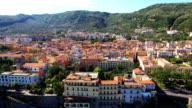 Cityscape of Sorrento with sea