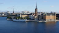Cityscape of Stockholm, Sweden with Riddarholmen island