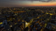 T/L,Cityscape of Tokyo at dusk.