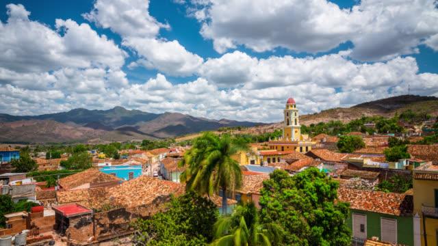 TIME LAPSE Cityscape of Trinidad, Cuba.