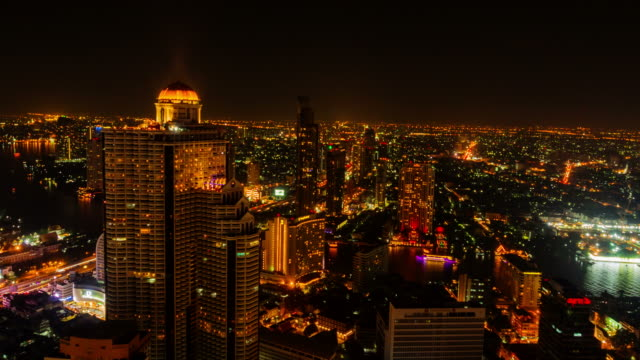 Cityscape time lapse of Bangkok,Thailand