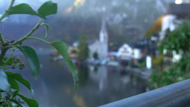 Cityscape view of Hallstatt Village Austria
