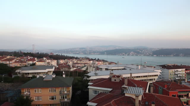 WS PAN Cityscape with bridge / Istanbul, Turkey