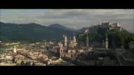 WS Cityscape with Hohensalzburg castle in background / Salzburg, Austria