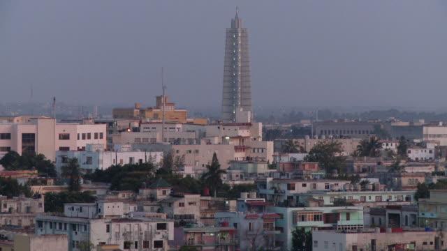 WS HA Cityscape with Jose Marti Memorial at dusk / Havana, Cuba