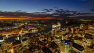 4K Cityscapes & Establishers: 4K Sunset - night Timelapse of Sydney CBD with darling harbour