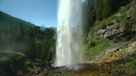 4K Cityscapes, Landscapes & Establishers - fresh drinking water from waterfall in mountains