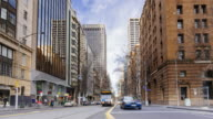 4K Cityscapes & Establishers: 4K Time lapse of Collins street, during winter, Melbourne