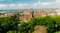4K Cityscapes & Establishers: 4K Timelapse of St Mary's Cathedral and Hyde Park, Sydney