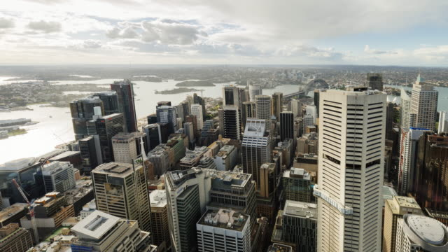 4K Cityscapes Time-lapse: sunset Sydney CBD from elevated view