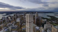 4K Cityscapes & Establishers: 4K day to night Timelapse of Sydney CBD from elevated view