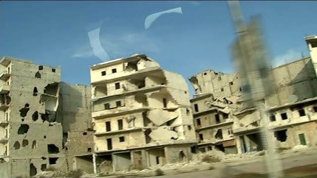 Children of Aleppo suffering as winter arrives SYRIA Aleppo SHOT past buildings destroyed by shelling and bombing in the civil war Faces of small...