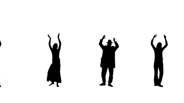 Clapping  People Silhouettes