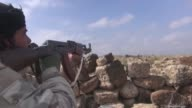 Clashes between Syrian armed opposition groups and Assad regime remain ongoing on the outskirts of Daraa's AlWaredat village Syria on February 03...