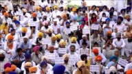 Clashes break out between sword wielding Sikhs at the Golden Temple in northern India on the 30th anniversary of a notorious army raid in which...