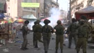 Clashes broke out Wednesday between Palestinian youths and Israeli forces in the West Bank city of Hebron following the funeral of a young woman shot...