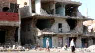 Clashes continue between Houthis and supporters of president Abd Rabbuh Mansour Hadi in Ta'iz Yemen on 9 October 2015 Many buildings were destroyed...