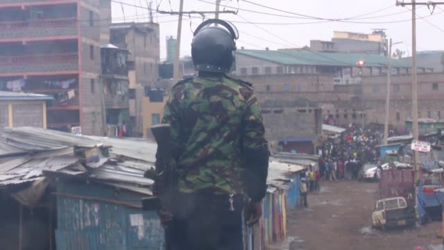 Clashes erupted in a Nairobi slum Sunday after four bodies were found in the streets hiking tensions on the eve of a Supreme Court ruling on the...