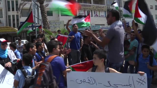 Clashes occurred between Palestinian protestors and Israeli security forces during the demonstration of Palestinian protestors against Israeli...