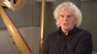 Sir Simon Rattle interview Sir Simon Rattle interview SOT re diversity in orchestras young conductors CUTAWAYS reporter