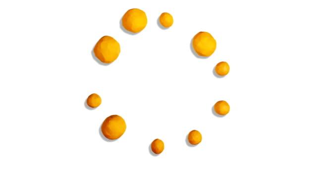 Clay gleichmäßige in Bitcoin Symbol auf Weiß