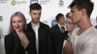 INTERVIEW Clean Bandit on their win favorite performances of the night at Warner Music Group Hosts Annual Grammy Celebration in Los Angeles CA