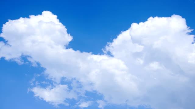 Klaren blauen Himmel Wolken Zeitraffer