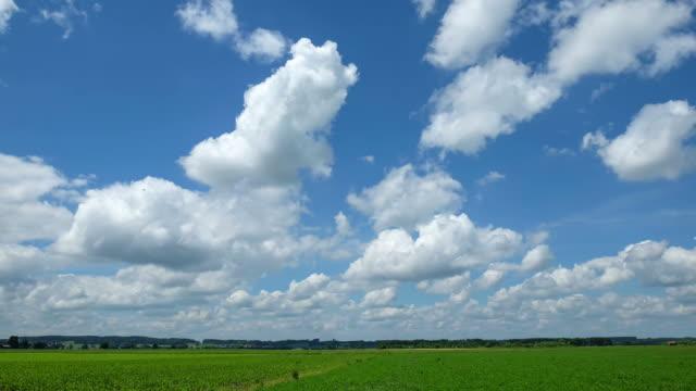 Clean cloud, blue sky