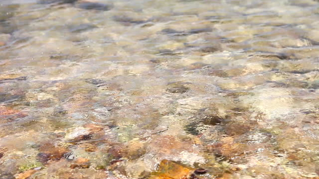 Clean sea water on the rock beach