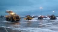 Clean up at Washington Dulles Airport's runway