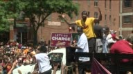 WJW Cleveland Cavaliers Players in Parade in Cleveland Ohio on June 22 2016 After Winning the 2016 NBA Finals