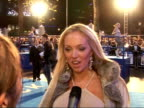 'Click' film premiere Interviews Aisleyne HorganWallace interview SOT Talks about outfits extension of my personality/ life in the public eye/ Pete...