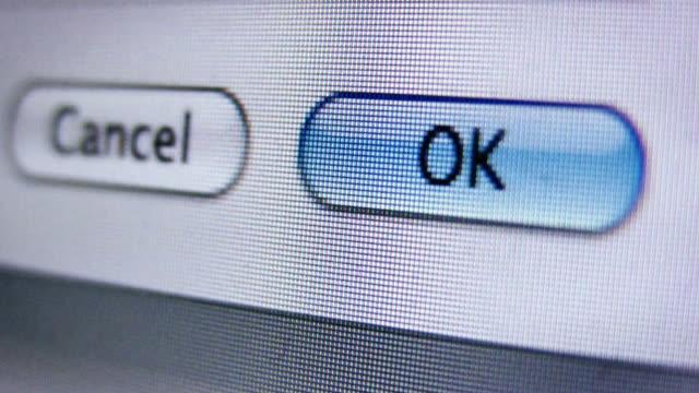 Clicking OK Button Interface