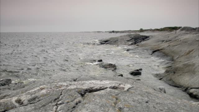 Cliffs by the sea Huvudskar Stockholm archipelago Sweden.