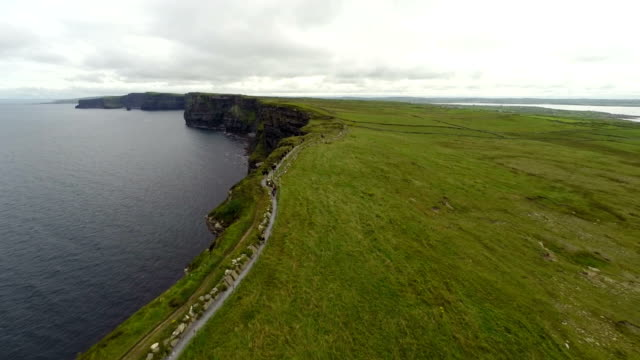 Cliffs of Moher from air