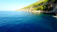 AERIAL Cliffs On Island Hvar
