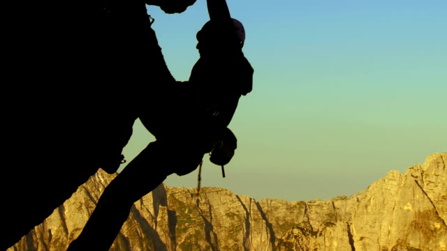 HD: Climbing On A Steep Rock