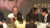 Clint Eastwood and Angelina Jolie at the end of the press conference at the 2008 Cannes Film Festival 'Changeling' press conference in Cannes on May...