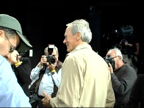 Clint Eastwood and fan at the 2005 Screen Actors Guild SAG Awards Rehearsals at the Shrine Auditorium in Los Angeles California on February 4 2005